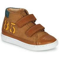Shoes Boy Hi top trainers Shoo Pom PLAY ALPHA Brown
