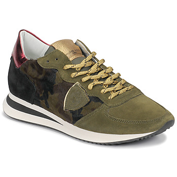 Shoes Women Low top trainers Philippe Model TROPEZ Camouflage