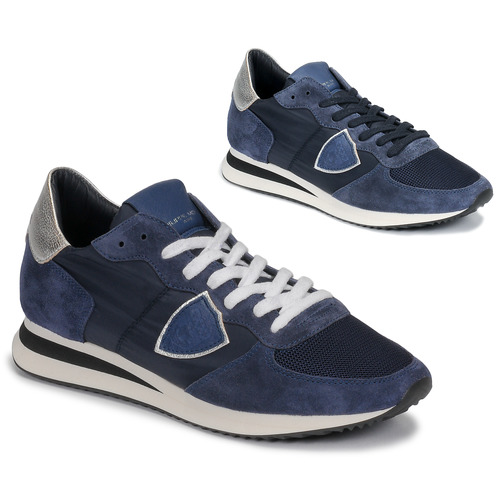 Shoes Women Low top trainers Philippe Model TROPEZ Marine