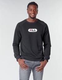 Clothing Men Sweaters Fila BAHA RAGLAN CREW Black