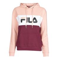 Clothing Women Sweaters Fila LORI HOODY Pink / White