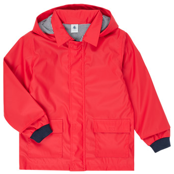 Clothing Children Parkas Petit Bateau LOUNA Red