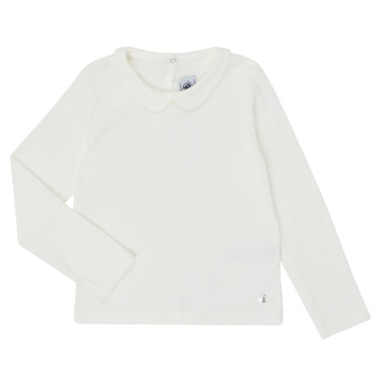 Clothing Girl Long sleeved tee-shirts Petit Bateau LOVING White