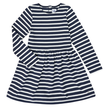 Clothing Girl Short Dresses Petit Bateau LISANNE Marine