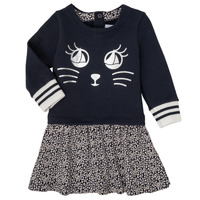 Clothing Girl Short Dresses Petit Bateau LELIA Marine