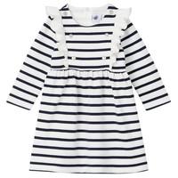 Clothing Girl Short Dresses Petit Bateau LEVRIER White / Marine