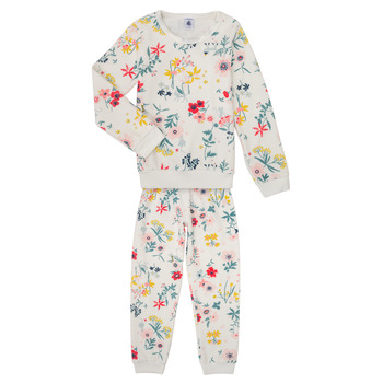 Clothing Girl Sleepsuits Petit Bateau LISSA Multicolour