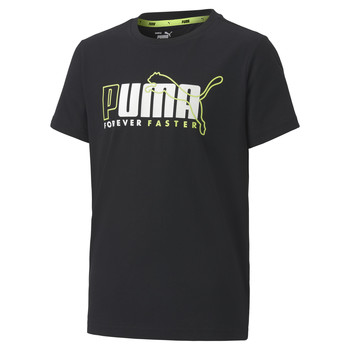 Clothing Boy short-sleeved t-shirts Puma ALPHA TEE Black