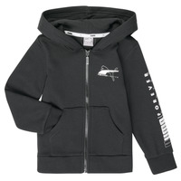 Clothing Boy sweaters Puma ALPHA HOODED JACKET Black