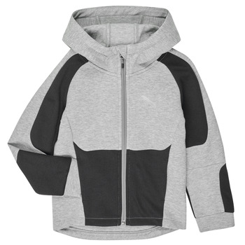 Clothing Boy sweaters Puma EVOSTRIPE HOODED JACKET Grey