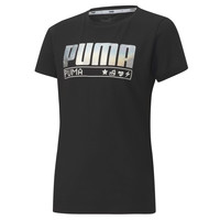 Clothing Girl Short-sleeved t-shirts Puma ALPHA TEE 165 Black