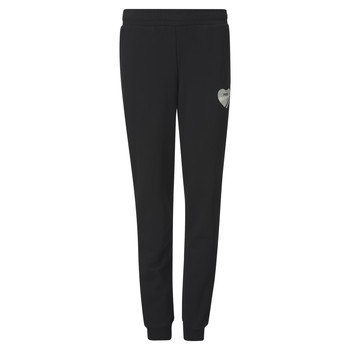 Clothing Girl Tracksuit bottoms Puma ALPHA SWEAT PANT Black