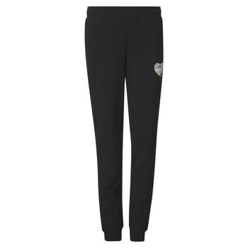 Clothing Girl Tracksuit bottoms Puma ALPHA SWEAT PANT Black