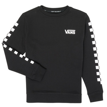 Clothing Boy Sweaters Vans EXPOSITION CHECK CREW Black