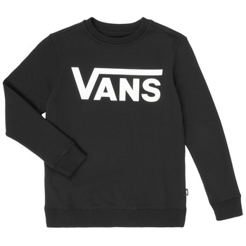 Clothing Boy Sweaters Vans VANS CLASSIC CREW Black