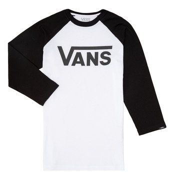 Clothing Boy Long sleeved tee-shirts Vans VANS CLASSIC RAGLAN Black / White