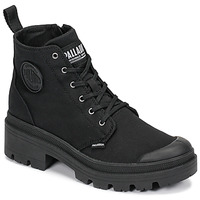 Shoes Women Mid boots Palladium PALLABASE TWILL Black