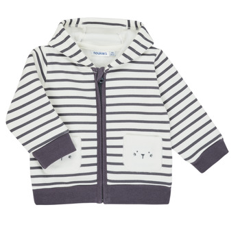 Clothing Boy Jackets / Cardigans Noukie's Z050151 White / Blue