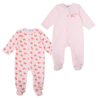 Clothing Girl Sleepsuits Noukie's Z089375 Pink