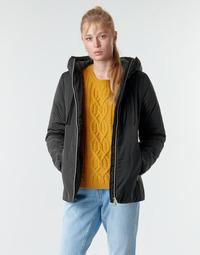 Clothing Women Parkas Geox MYRIA Black