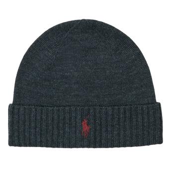 Clothes accessories Men Hats / Beanies / Bobble hats Polo Ralph Lauren Merino Wool Beanie Grey / Dark