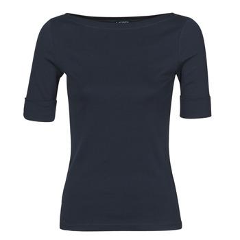 Clothing Women Long sleeved tee-shirts Lauren Ralph Lauren JUDY Marine