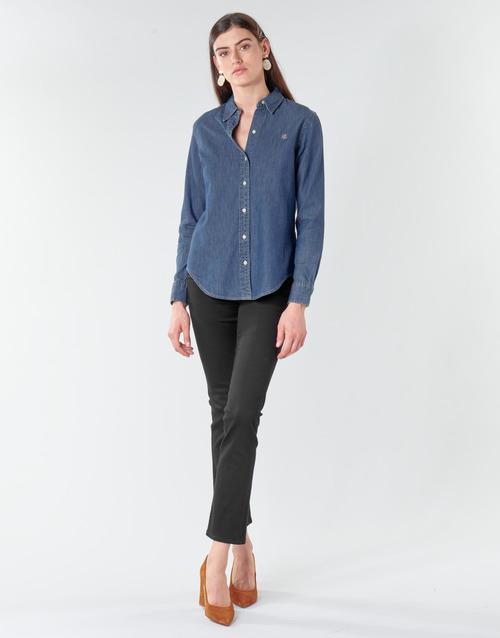 Clothing Women Straight jeans Lauren Ralph Lauren PRM STRAIGHT Black