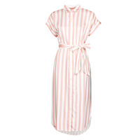 Clothing Women Long Dresses Lauren Ralph Lauren CICERO White / Pink