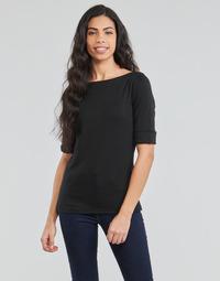 Clothing Women Long sleeved tee-shirts Lauren Ralph Lauren JUDY Black