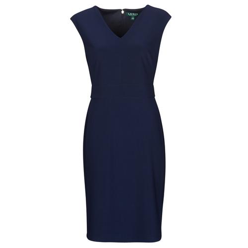 Clothing Women Short Dresses Lauren Ralph Lauren JANNETTE Marine