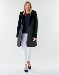 Clothing Women Coats Lauren Ralph Lauren COMBO FX SH-COAT Black