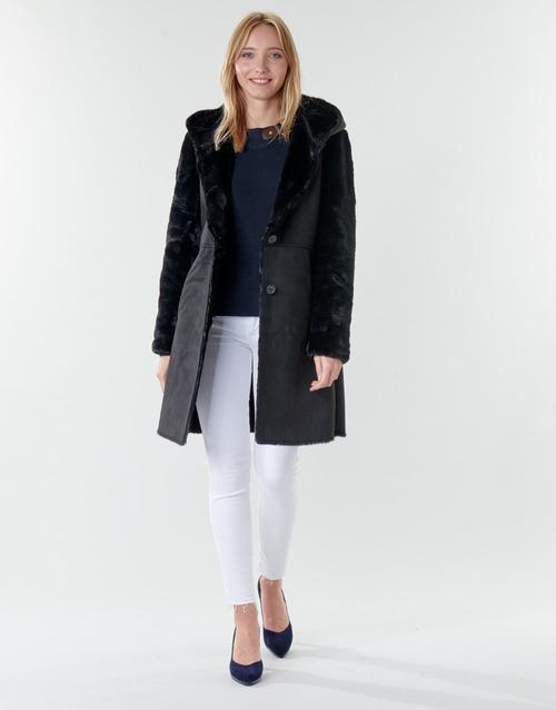 Clothing Women Coats Lauren Ralph Lauren COMBO FX SH-COAT Black