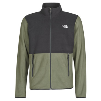 Clothing Men Fleeces The North Face TKA GLACIER FULL ZIP JACKET Taupe / Green / Tnf /  black