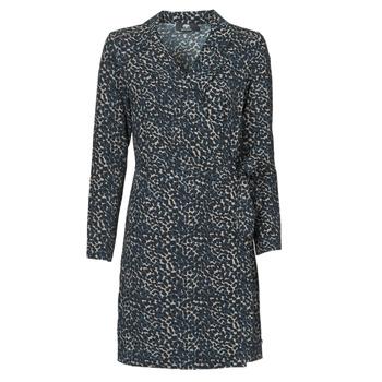Clothing Women Short Dresses Le Temps des Cerises LEANE Blue