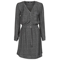 Clothing Women Short Dresses Le Temps des Cerises RABA Grey / Black