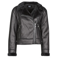 Clothing Women Leather jackets / Imitation leather Le Temps des Cerises BONY Black