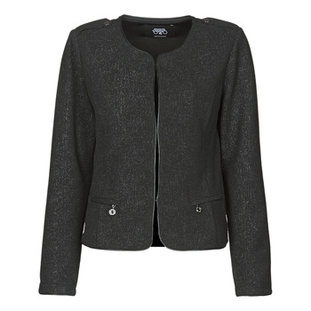 Clothing Women Jackets / Blazers Le Temps des Cerises JUSTYNE Black