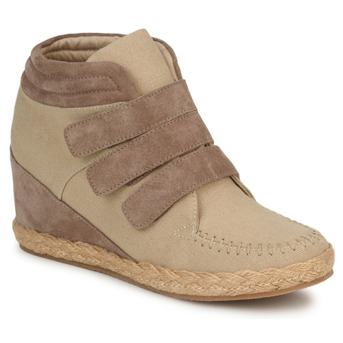 Shoes Women Hi top trainers No Name SPLEEN STRAPS Beige / Taupe
