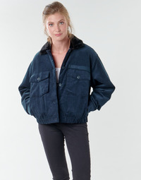 Clothing Women Jackets Volcom ARMY CORD JACKET Blue