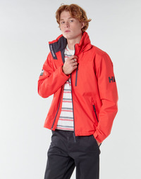 Clothing Men Jackets Helly Hansen CREW HOODED MIDLAYER JACKET Red