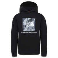 Clothing Boy Sweaters The North Face NEW BOX CREW HODDIE Black
