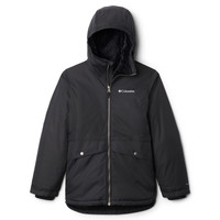 Clothing Girl Parkas Columbia PORTEAU COVE MID JACKET Black