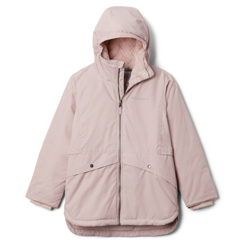 Clothing Girl Parkas Columbia PORTEAU COVE MID JACKET Pink