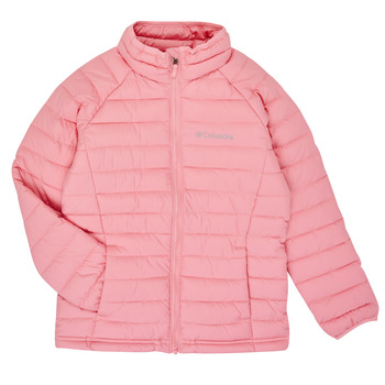 Clothing Girl Duffel coats Columbia POWDER LITE JACKET Pink