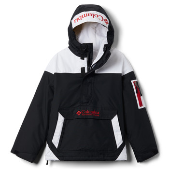 Clothing Boy Jackets Columbia CHALLENGER Black / White