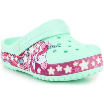 Shoes Children Clogs Crocs Funlab Unicorn Band CG K 206270-3TI green, purple