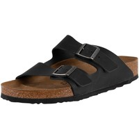 Shoes Men Mules Birkenstock Arizona Oiled Leather Sandals black