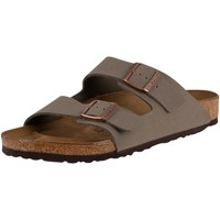 Shoes Men Mules Birkenstock Arizona Birko-Flor Nubuck Sandals grey
