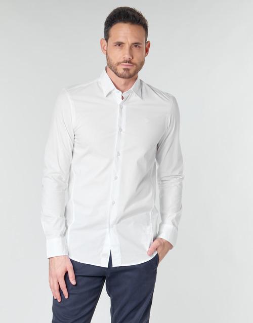 Clothing Men Long-sleeved shirts G-Star Raw DRESSED SUPER SLIM SHIRT LS White