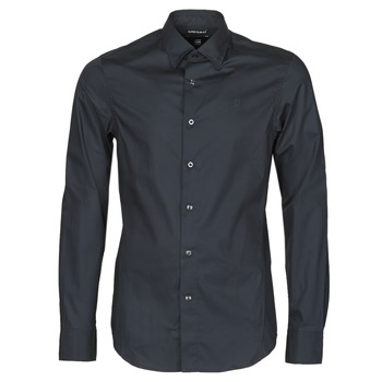 Clothing Men Long-sleeved shirts G-Star Raw DRESSED SUPER SLIM SHIRT LS Black